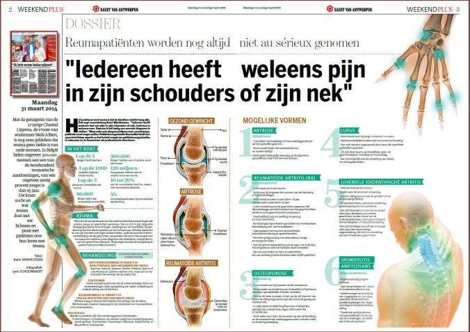 Gazet van Antwerpen, weekendbijlage 5 april 2014